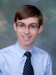 Caleb Woods, the son of Janice Woods of New Harmony, plans to study political science at the University of Evansville.