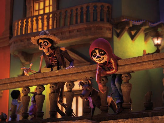 "Héctor (left) helps Miguel blend in in ""Coco."""