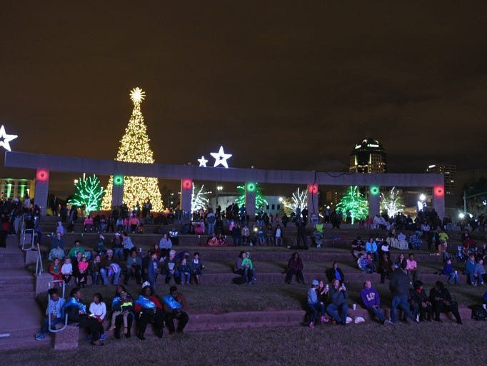 People at the Spirit of the Season celebration held