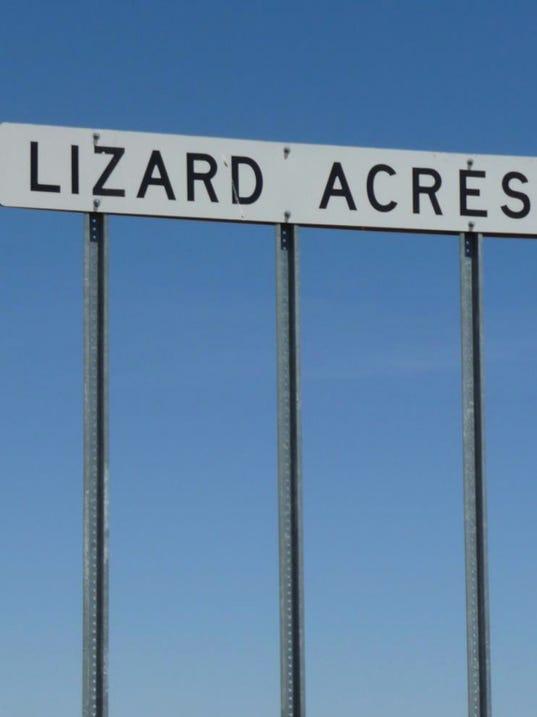 Lizard Acres sign