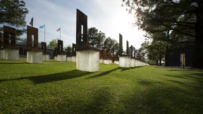 Oklahoma City, OK, U.S.A  -- The Field of Empty Chairs at The Oklahoma City Bombing Memorial in Oklahoma City, Okla. There are 168 chairs representing the victims of the 1995 terrorist attack.