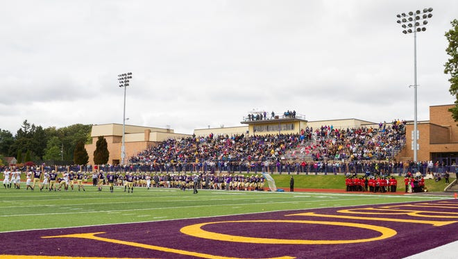 Sprankle-Sprandle Stadium is home to Albion College football. The stadium will host the Sept. 25 contest between Marshall High School and Jackson Lumen Christi.