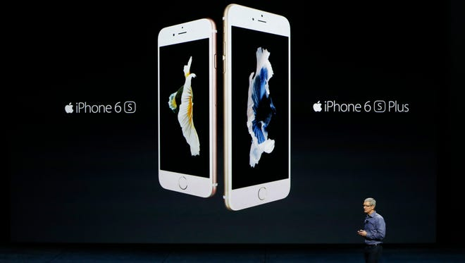 Apple CEO Tim Cook introduces the new iPhone 6s and 6s Plus during a Special Event at Bill Graham Civic Auditorium.
