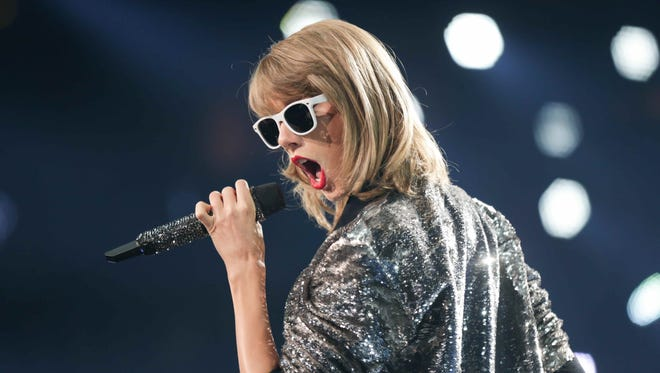 Taylor Swift performs Wednesday night at Bankers Life Fieldhouse.