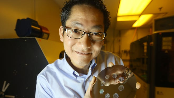 Bruce Ha is a former Kodak consultant with an electrical engineering background and 11 patents in polar raster writing. Ha has devised a way of using nanotechnology to etch entire books, photos and other keepsakes onto tiny pendants, medallions and rings.