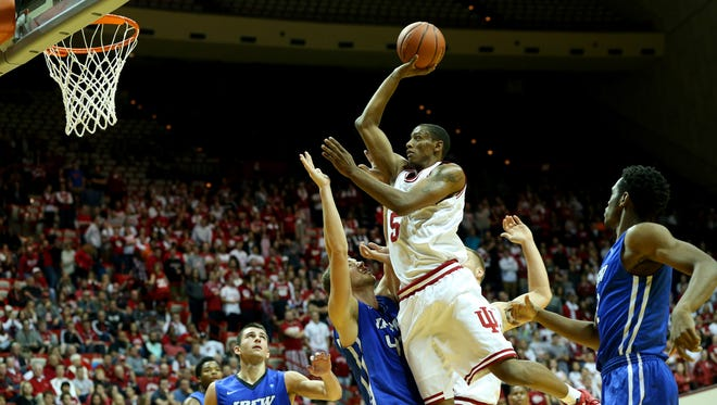 Troy Williams (center) is often the key to IU's success or failure.