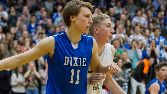Dixie's Richard Guymon is averaging 11.9 points and 6.8 rebounds per game this season, but it's his defense that has helped lead the Flyers to a perfect 17-0 record.
