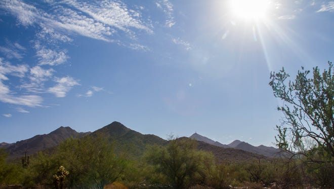 The Gateway Trailhead at the McDowell Sonoran Preserve.