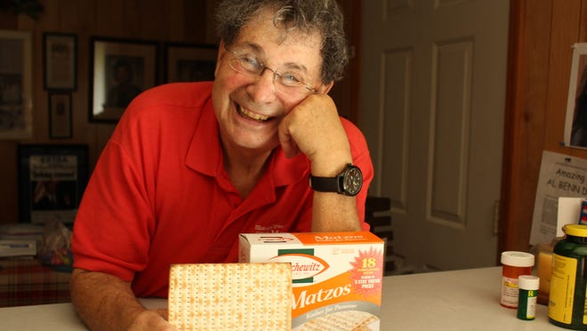 Advertiser writer Alvin Benn knows too much matzah can turn a smile to a frown in a hurry.