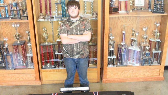 Tyler Butler, who was a junior at Parkview High School, recently took first place in metal fabrication at the Technology Educators Association of Missouri contest.