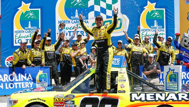Matt Crafton won back-to-back races on the Trucks series for the first time.