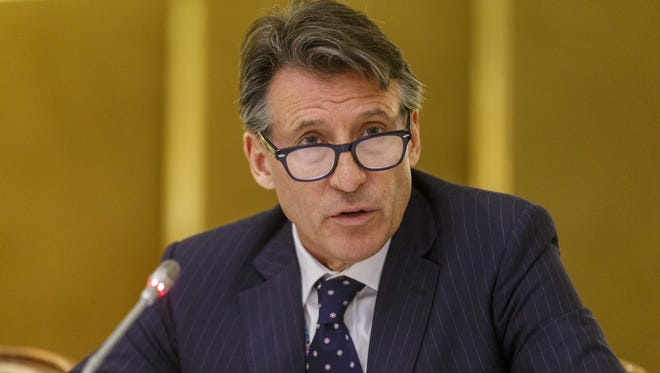 IAAF President Sebastian Coe speaks during a meeting of the IAAF Council at the Grand Hotel on June 17, 2016 in Vienna, Austria.