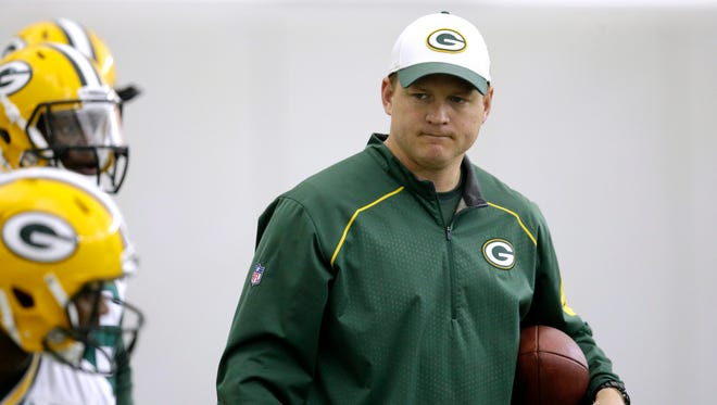 Green Bay Packers receivers coach Luke Getsy during rookie minicamp.