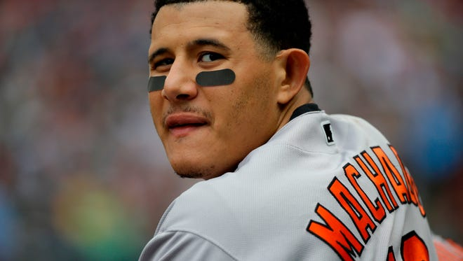 Manny Machado is show here during his days with the Baltimore Orioles.