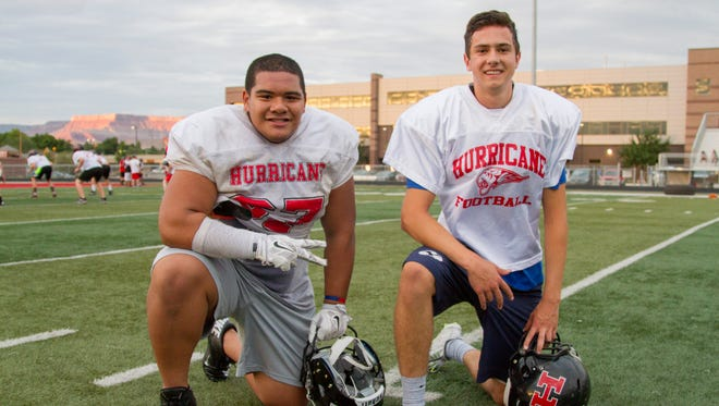 Hurricane's Quando Ieremia (left) and Josh Parker look to lead the Tigers to special season this year. Hurricane opens the season at home against Skyline on Friday at 7 p.m.
