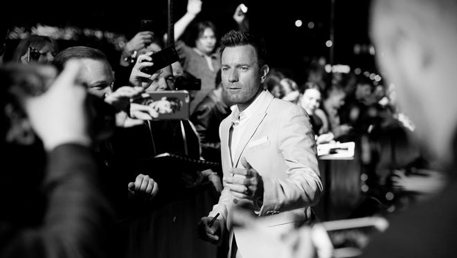 """Now, that's a movie star. Ewan McGregor greets fans at the """"American Pastoral"""" premiere during the 12th Zurich Film Festival on Sept. 26, 2016, in Switzerland."""