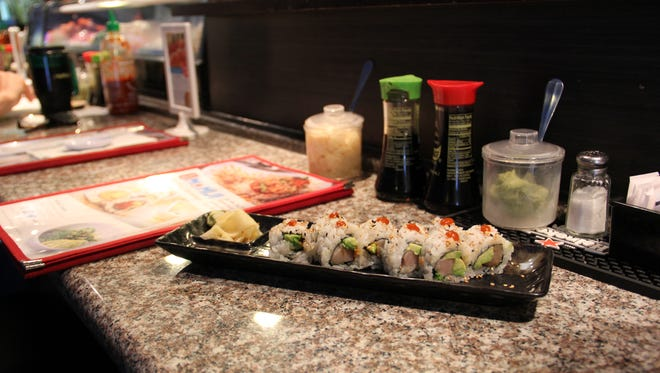 Spicy yellowtail arrives with ginger at Momiji Japanese Crepes & Sushi on Silverton Road. The restaurant will open a second location in West Salem this March.