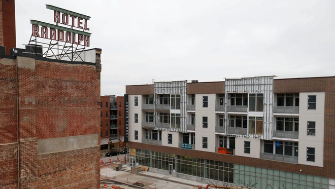 The Fourth + Court development on top of the new downtown Hy-Vee store is set to open in 2017 in downtown Des Moines.