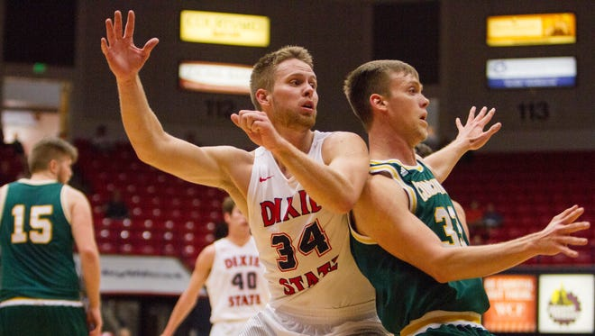 Dixie State mens basketball takes on Concordia Saturday, Dec. 3, 2016.