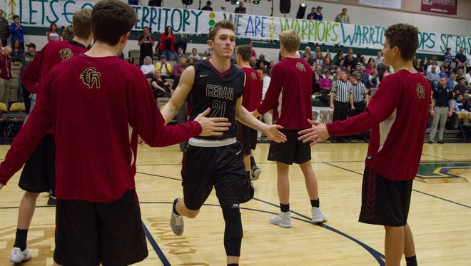 Cedar's Keenan Nielson is having a big year as the senior is averaging 20.3 points per game and has scored the fourth most points — regardless of classification — in the entire state.