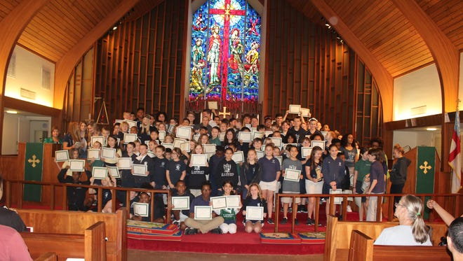 St. Andrew's Episcopal Academy's Semester One Honor Roll recipients