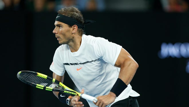 Rafael Nadal, above, lost a grueling five-set match to Roger Federer in the final of the Australian Open.