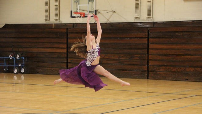 Shayla Deck practices her routine for Cascade of Talent. The annual event takes place Sunday, March 5.