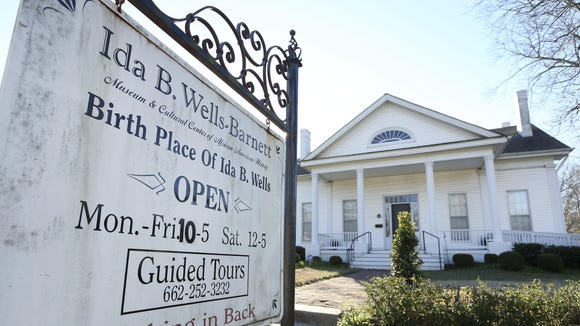 The Ida B. Wells-Barnett Museum in Holly Springs tells the story of Holly Springs native Ida B. Wells-Barnett, an African-American journalist and co-founder of the NAACP.