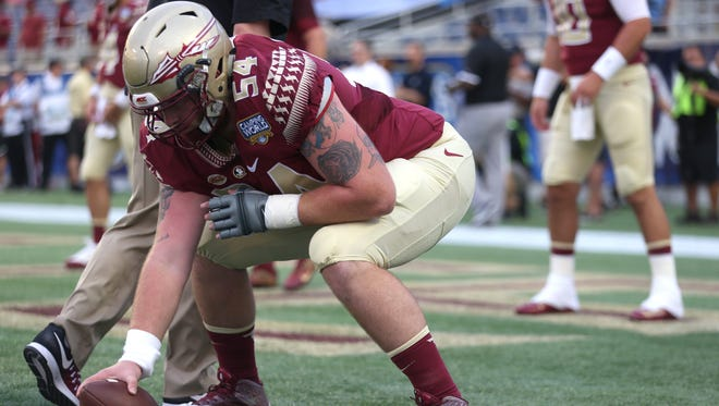 Florida State redshirt junior center Alec Eberle looks to lead the charge for the Seminoles offensive line next fall.