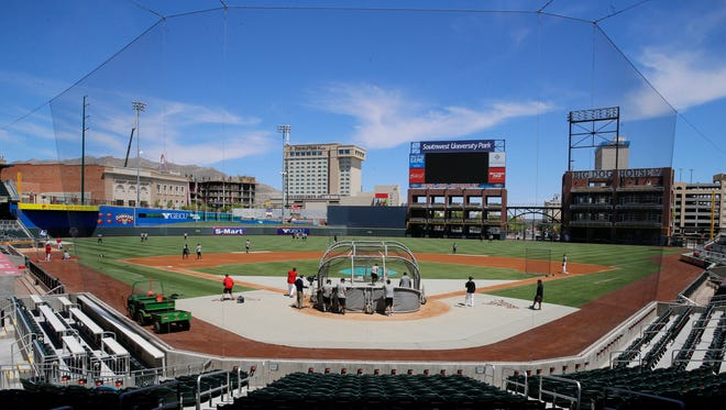 Chihuahuas coaches and players hit the field Wednesday afternoon preparing for opening day Thursday against the Las Vegas 51's in the first of a five game home stand to open the 2017 season at Southwest University Park.