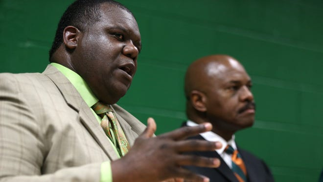 Athletic Director Milton Overton Jr. spoke with BOT members on Wednesday about the athletic budget.