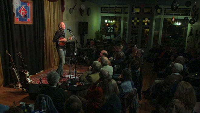 Folk-blues musician Brooks Williams performs at 6 On The Square in Oxford. The venue is celebrating its 10th anniversary in June.