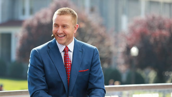 Kirk Herbstreit on the set of College GameDay Built by the Home Depot.