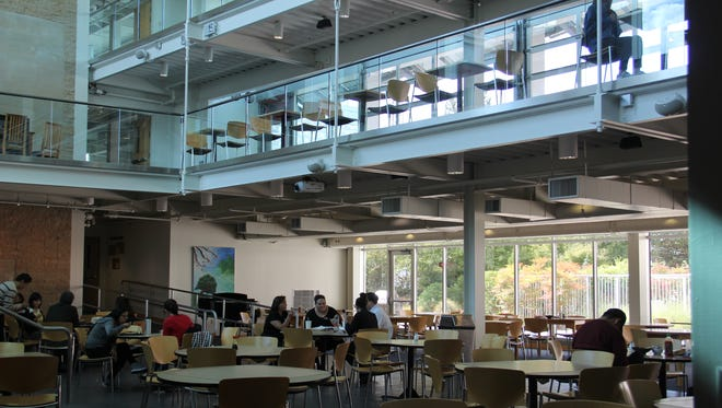 The seating area of the Kaneko Commons dining hall is often populated by students, faculty and community members.