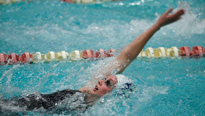 Whitnall's Kelly McElvain swims the 200-yard individual medley.