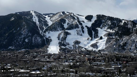 This Dec. 1, 2014 file photo shows Aspen Mountain ski