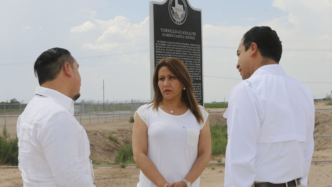 Patricia Marronquin, the First Lady of Guatemala visited the Tornillo Port of Entry on Monday.