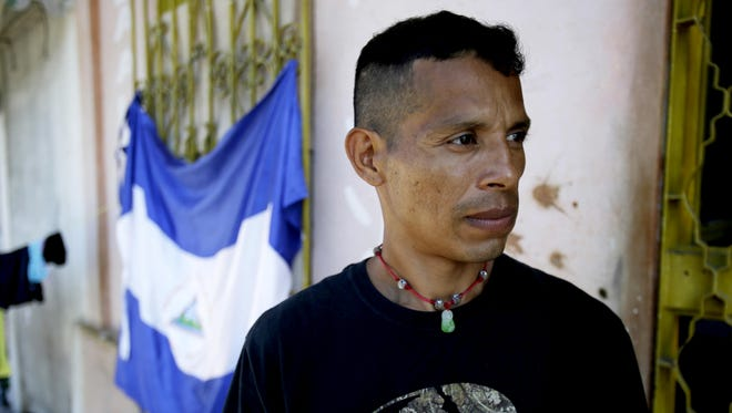 Lester Javier Velasquez Gonzalez, 38, and his family are fleeing Nicaragua, where those who have opposed President Daniel Ortega have faced prison, death and persecution.