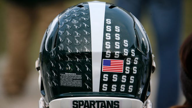 Michigan State football helmet.