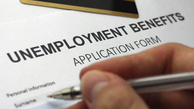Unemployment benefits form.