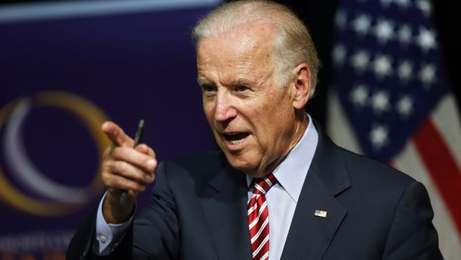 Vice President Joe Biden speaks during a roundtable discussion at the Advanced Manufacturing Center at Community College of Denver.