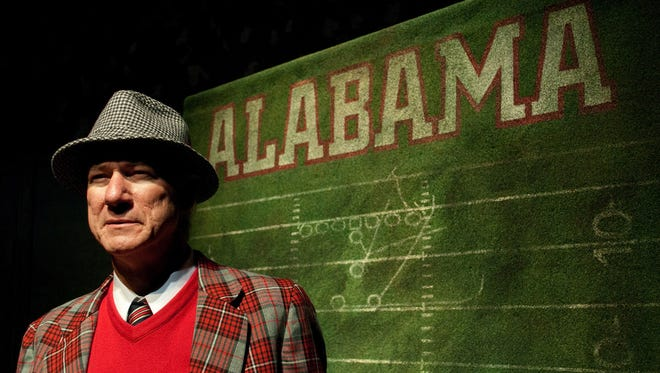 """Rodney Clark returns to his role as University of Alabama head football coach Paul """"Bear"""" Bryant in Alabama Shakespeare Festival's production of """"Bear Country,"""" March 9-25, 2018, in Montgomery, Ala."""
