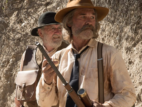Richard Jenkins (left) and Kurt Russell are clad in