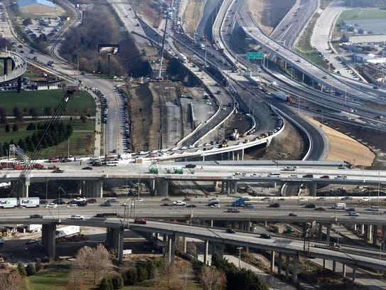 Spaghetti Junction as seen in late December 2015 is