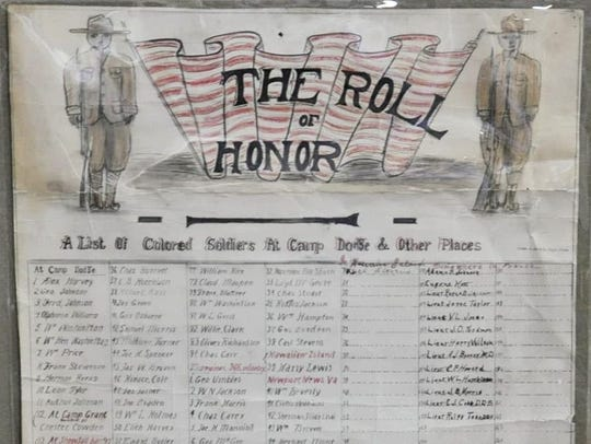 Honor Roll of Colored Soldiers at Camp Dodge and Other