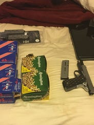 Items seized during marijuana grow operation arrest