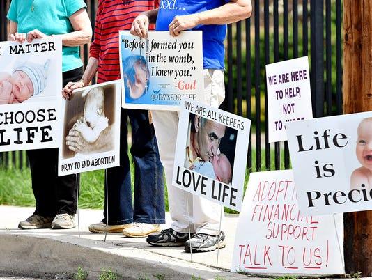 LOGO abortion protest