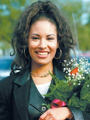 """FILE PHOTO--""""Selena"""" during her visit to Cunningham"""
