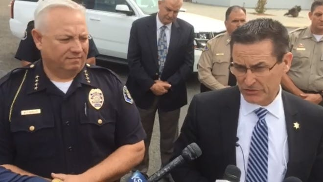 Tulare County Sheriff's Department holds a press conference on Tulare shooting.