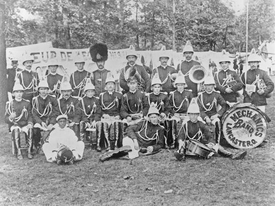 Mechanics Band of Lancaster, circa 1900. They performed all over central Ohio.